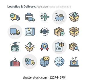Logistics & Delivery icon set