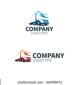 Logistics or delivery service label. Vector logo design template.