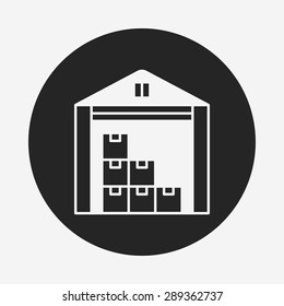 logistics freight warehouse icon