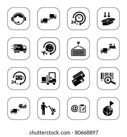 Logistics icons - BW series
