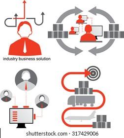 Logistics icons. Supply chain