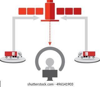 Logistics icons. Transport Telematics