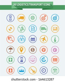 Logistics icons,Colorful version,vector