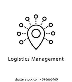 Logistics Management Vector Line Icon