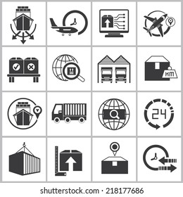 logistics shipping icons set, delivery icons
