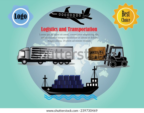 Logistics Technology Concept Logistics Connection On Stock
