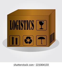 Logistics technology concept,logistics connection on world map vector