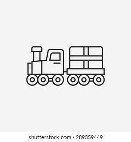 logistics truck line icon