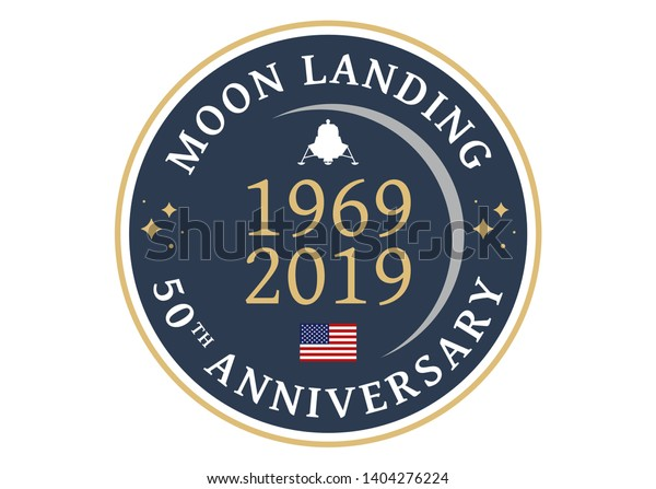 Logo for the 50th anniversary of the moon landing