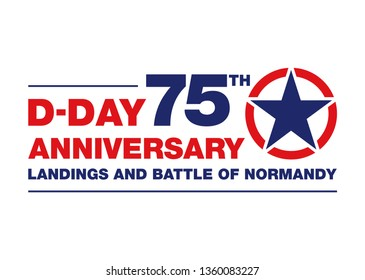 Logo for the 75th anniversary of the D-DAY 1944 in Normandy