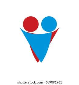 Logo about relationship Help and embrace