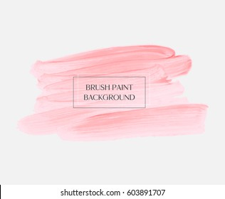 Logo abstract background brush paint acrylic texture design poster illustration vector. Perfect watercolor design for headline, logo and sale banner.