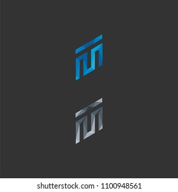 logo abstract M T