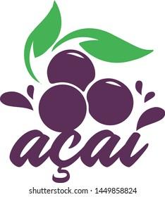 Logo Acai Brazilian Fruit Amazon Brazil