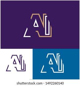 Logo AI, A, I, IA design template. Logo modern for your business