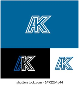 Logo AK, A, K, KA design template. Logo modern for your business