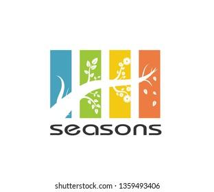 logo all four seasons - Vector graphics.