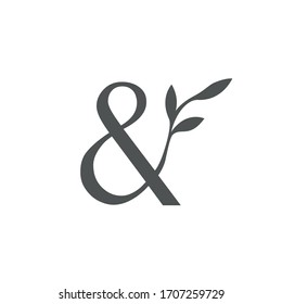 logo ampersand with a twig