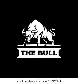 Logo angry bull template