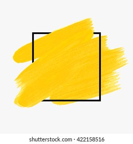 Logo art brush paint background vector. Original grunge brush art paint abstract texture background design acrylic stroke vector illustration. Perfect watercolor design for headline, logo and banner.