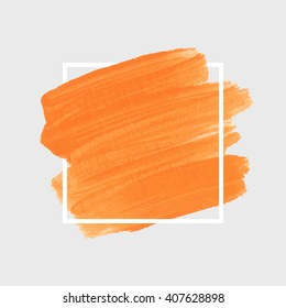Logo art brush paint vector. Original grunge brush art paint abstract texture background design acrylic stroke poster vector illustration. Perfect watercolor design for headline, logo and banner.