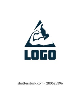 Logo. Athlete. Geometric.