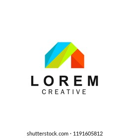 A logo with an attractive and eye catching color combination