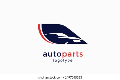 Logo for auto parts shop. Vector sign