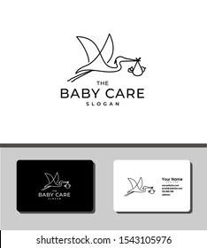 The logo of baby care
