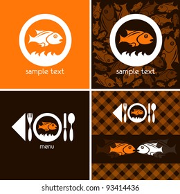 logo and background for fish company