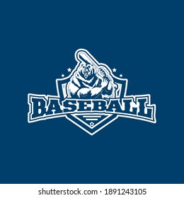 Logo for Baseball, Image design for t-shirts, Vector.