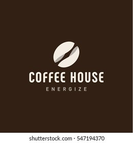 Logo bean coffee for the manufacture of delicious coffee in style vector illustrations art