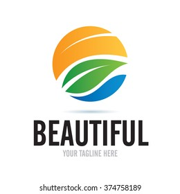 Logo Beautiful Nature Icon Element Template Design Logos