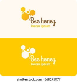 Logo bee honey. Stylish and modern logo for bee products. Vector illustration.