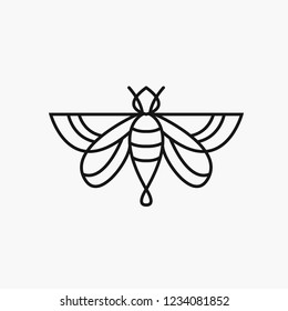 logo of a bee on a white background