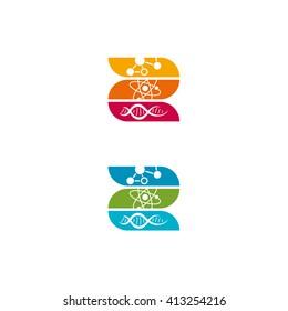 Logo for biophysics, letter b icon