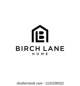 Logo BL negative space in a house for real estate companies