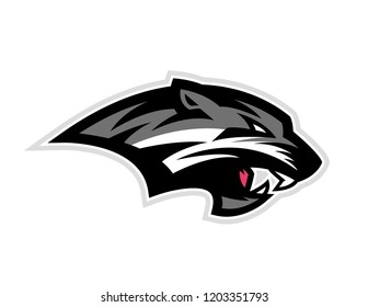 A logo of a black wildcat or panther for a sport team
