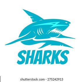 Logo with blue shark