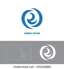 Logo Blue Wave | Golden Ratio