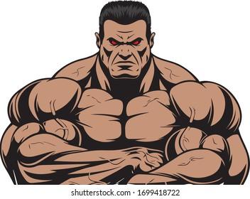 logo for bodybuilding vector icon