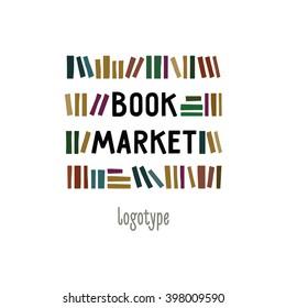 Logo for the bookshop as a shelf with books.