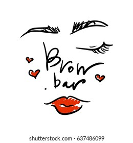 Logo for the brow bar with the image of the girl's face.
