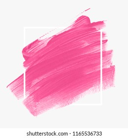 Logo brush painted abstract background design illustration vector over square frame. Perfect acrylic design for headline, logo and sale banner.