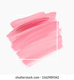 Logo brush painted acrylic background vector. Perfect design for headline and sale banner.