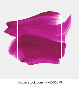 Logo brush painted textured watercolor art abstract background vector illustration over square frame. Perfect design for headline, logo and sale banner.