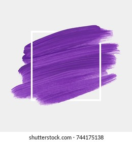 Logo brush painted watercolor abstract background design illustration vector over square frame. Perfect painted design for headline, logo and sale banner.