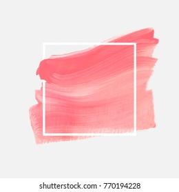 Logo brush painted watercolor abstract background design illustration vector. Perfect painted design for headline, logo and sale banner.
