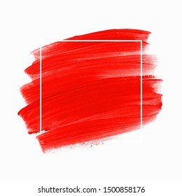 Logo brush painted watercolor background vector. Perfect design for headline and sale banner.