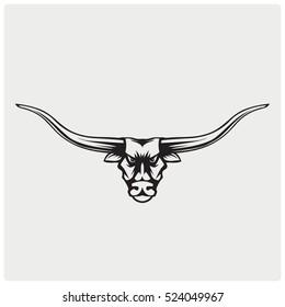 Logo bull head.Vector illustration.